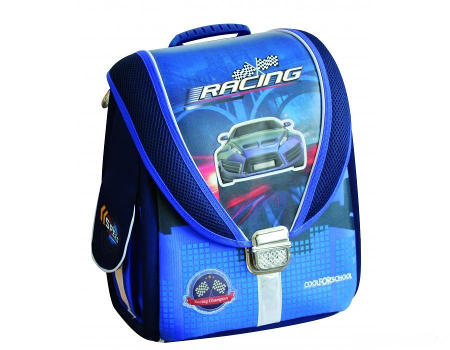 """Ранец каркасный ортопедический """"Blue Car"""" 85633"""