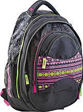 """Подростковый рюкзак Т-12 """"Ethno"""" YES! 551870 черный 23 л"""