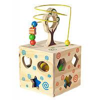 Развивающая игрушка Мир деревянных игрушек Логический кубик (Д014)