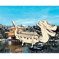Сборная модель Мир деревянных игрушек Лодка Дракона (П085а)