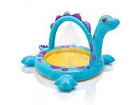 Детский надувной бассейн динозаврик intex 57437