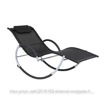 Шезлонг кресло-качалка черный Garden4you RUN