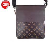 Мужская сумка-планшет сумка через плечо коричневая Louis Vuitton