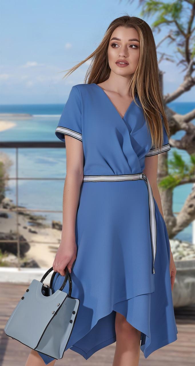 Стильное асимметричное женское платье