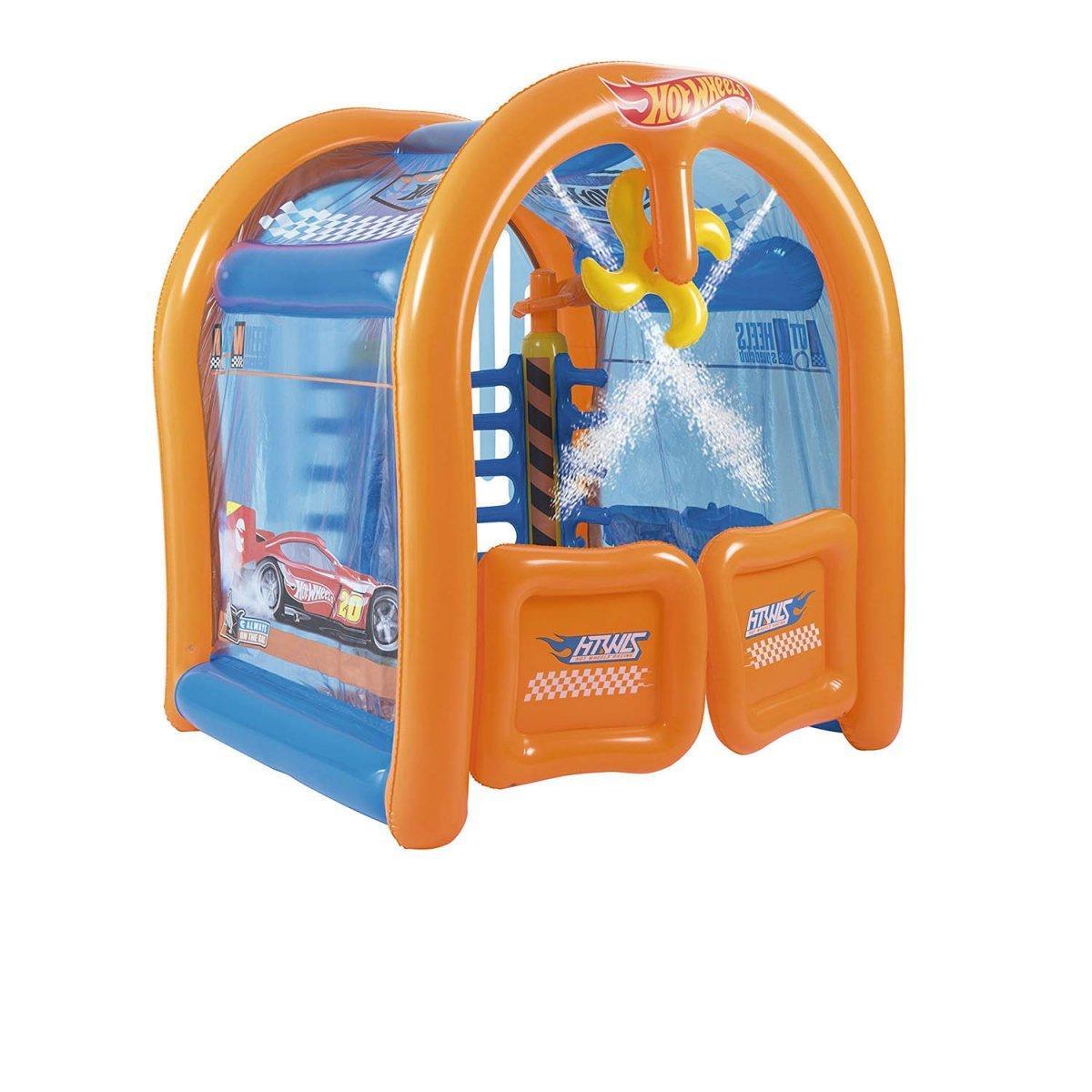 Надувной игровой центр Bestway «Автомойка Hot Wheels»,с фонтанами, 203х173х191 см  (93406)