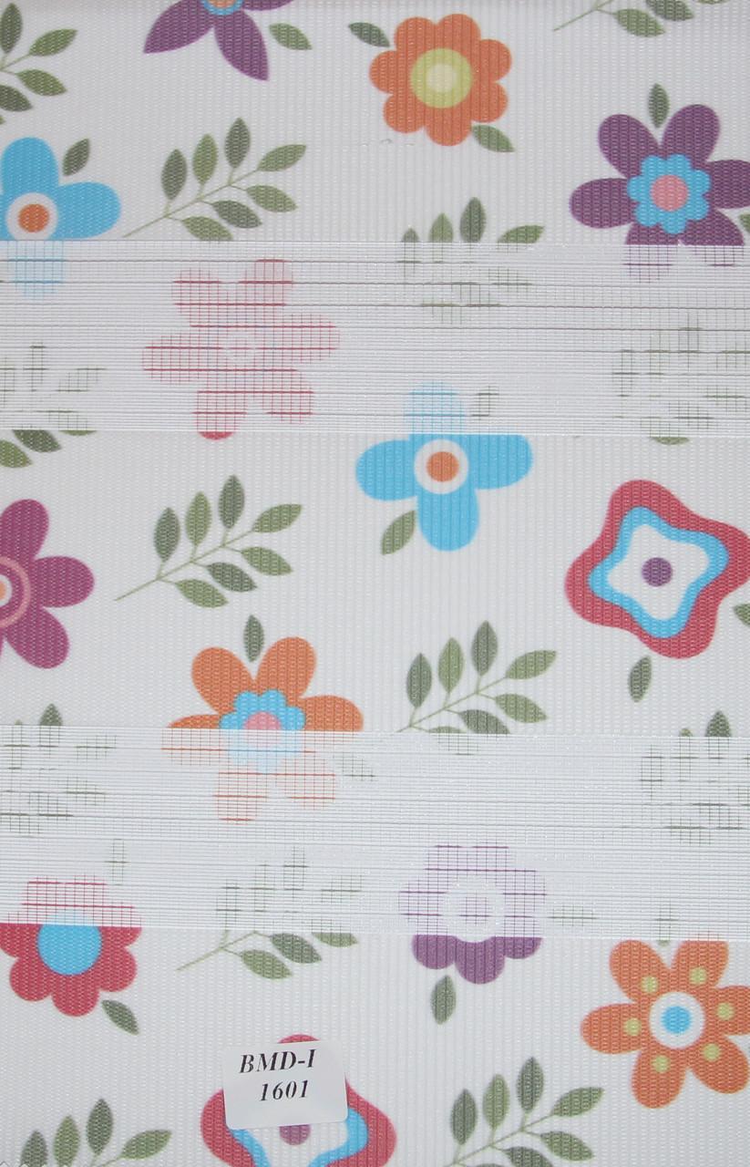 Готовые рулонные шторы Ткань BDM -1601 Цветы 625*1300