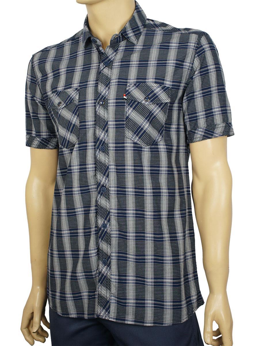Комбинированная мужская рубашка Barcotti 0073-06