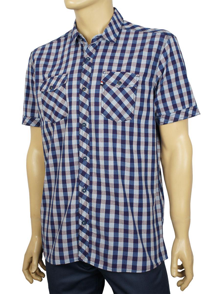 Стильная мужская рубашка Barcotti 0073-19 с коротким рукавом