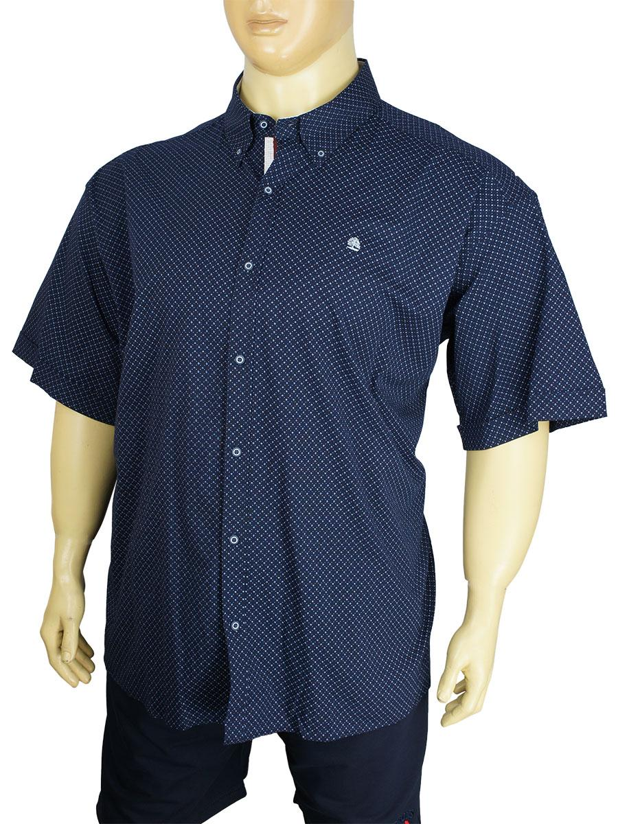 Стильная мужская рубашка Barcotti A:0291-SB большого размера