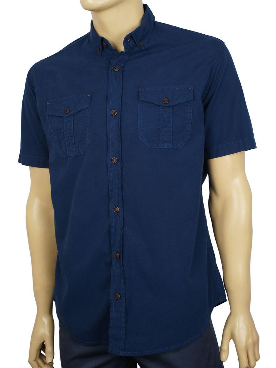 Мужская темно-синяя рубашка Cordial C02096 C:064