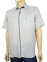 Мужская летняя рубашка короткий рукав Negredo 1038#18 light lacivert