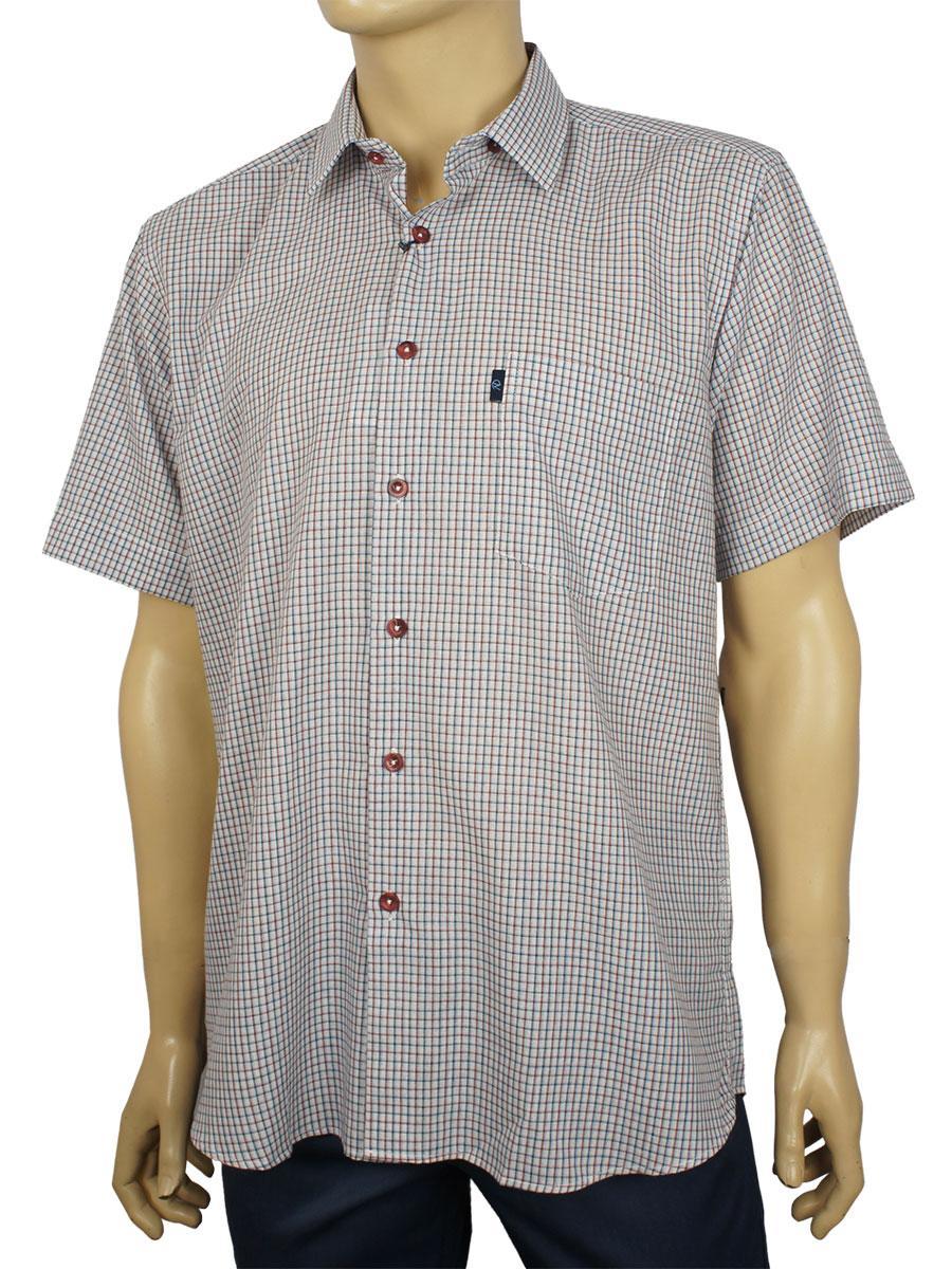 Летняя мужская рубашка Negredo 1039#12 в клетку