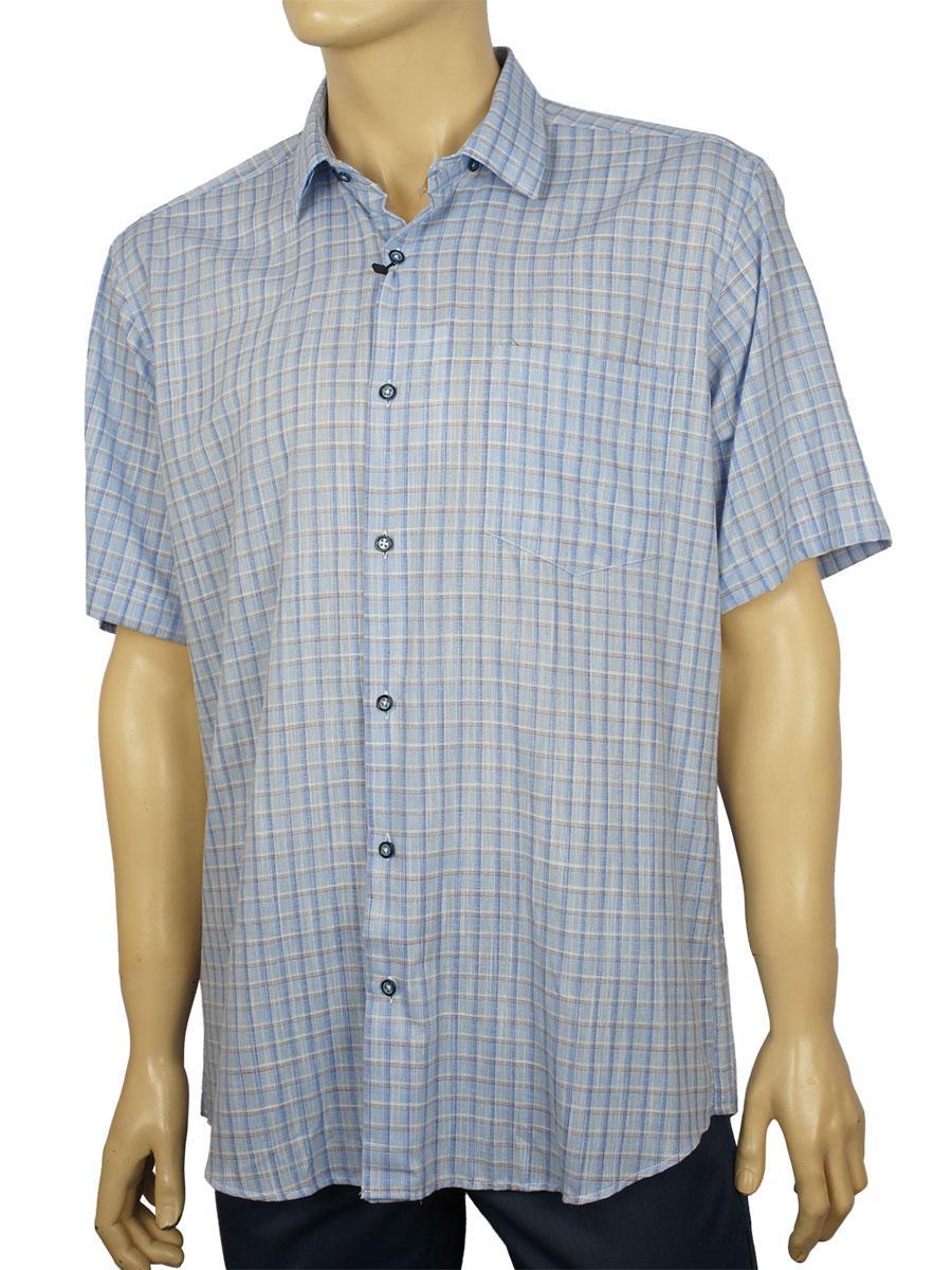 Стильная мужская рубашка Negredo 1039#2 classic blue