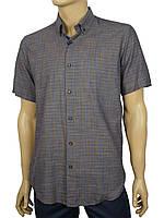 Льняная мужская рубашка Negredo 9046#78 короткий рукав