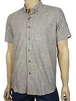 Льняная мужская рубашка Negredo 9047#04 grey серого цвета