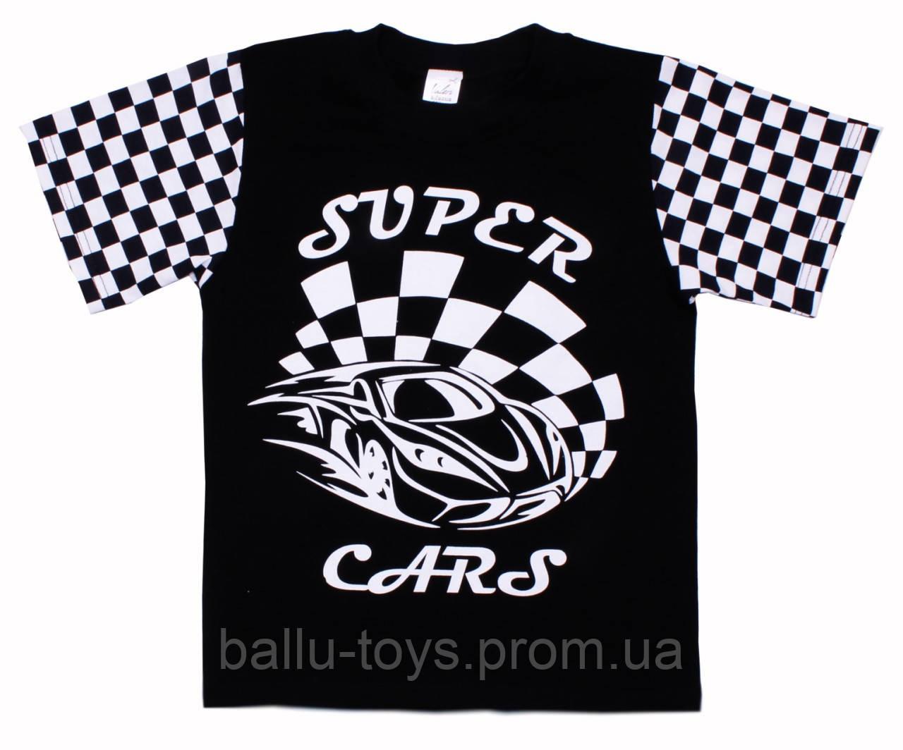 Летняя футболка на мальчика Super Cars (7-12 лет)