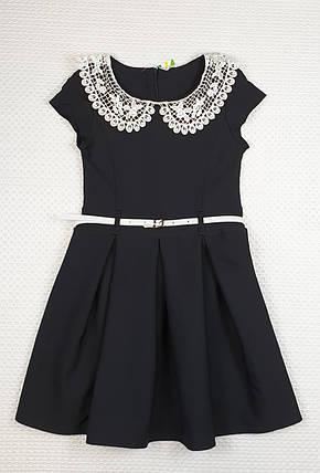 Платье для девочки  Зоряна в складку 122-134 ЧЕРНОЕ, фото 2