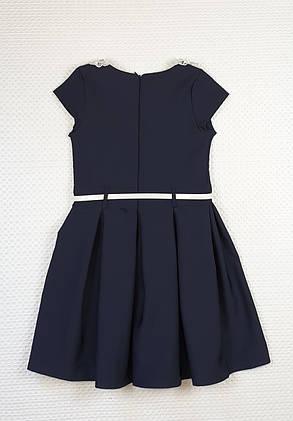 Платье для девочки  Зоряна в складку 122-134  ТЕМНО-СИНИЙ, фото 2
