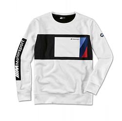 Оригінальний жіночий лонгслів  BMW M Motorsport Sweater Blocking Design, Black / White (80142461081)
