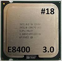 Процессор ЛОТ#18 Intel® Core™2 Duo E8400 SLB9J 3.00GHz 6M Cache 1333 MHz FSB Socket 775 Б/У, фото 1