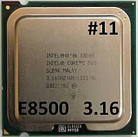 Процессор ЛОТ #11 Intel Core 2 Duo E8500 E0 SLB9K 3.16 GHz 6 MB Cache 1333 MHz FSB Socket 775 Б/У, фото 1