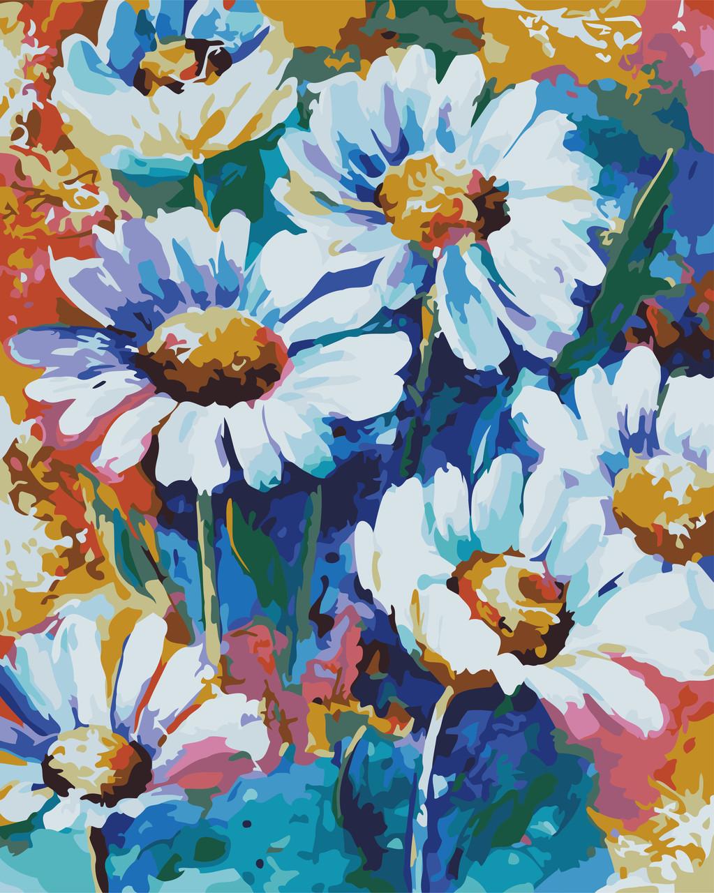 Картина по номерам Яскраві ромашки, 40x50 см., Art Story