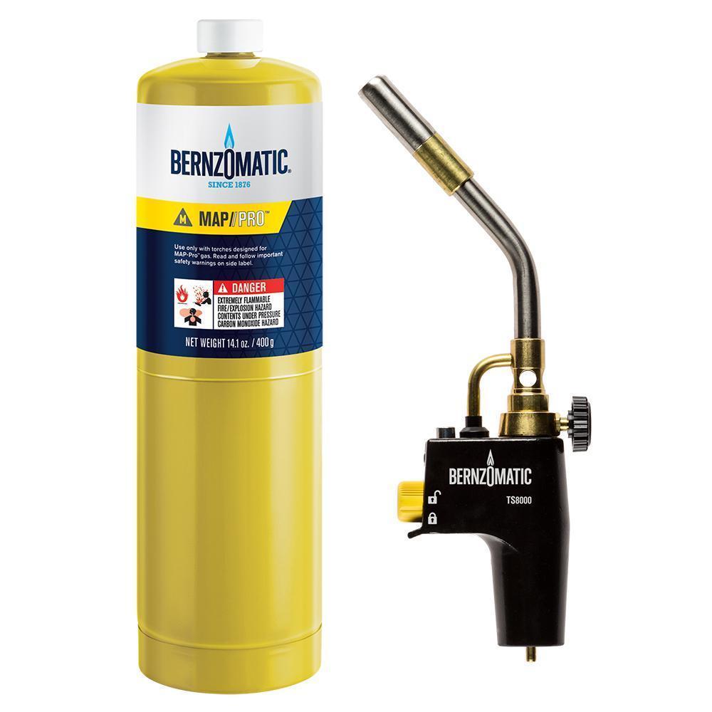 Газовая горелка на МАПП-Газе BernzOmatic TS8000 США с 2 баллонами mapp газа Оригинал