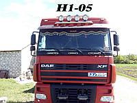 Люстра на крышу DAF 105 пряма на 4 фары d51х2мм / Люстра на крышу ДАФ 105 пряма на 4 фары д51х2мм