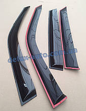 Ветровики Cobra Tuning на авто Hyundai Grandeur V Sd 2011 Дефлекторы окон Кобра для Хюндай Грандеур 5 с 2011