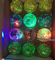 Игрушка мячик светящийся с наполнителем,  упаковка 12шт, фото 1