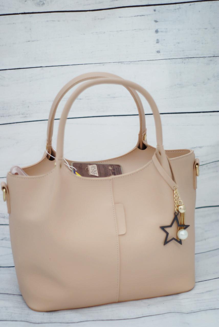 Женская сумка B.Elit, бежевый цвет ( код: IBG047M )