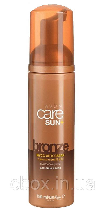 Мусс автозагар быстросохнущий для лица и тела Avon Care Sun+ Magic Tan Bronze, Эйвон, 150 мл, 33600