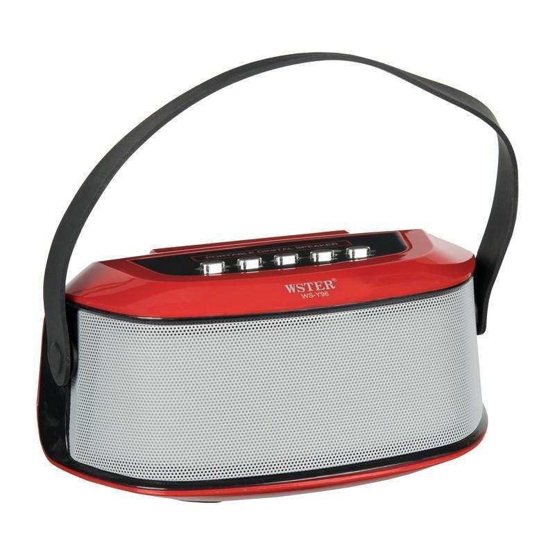 Портативная беспроводная bluetooth Колонка WS-Y96B Red