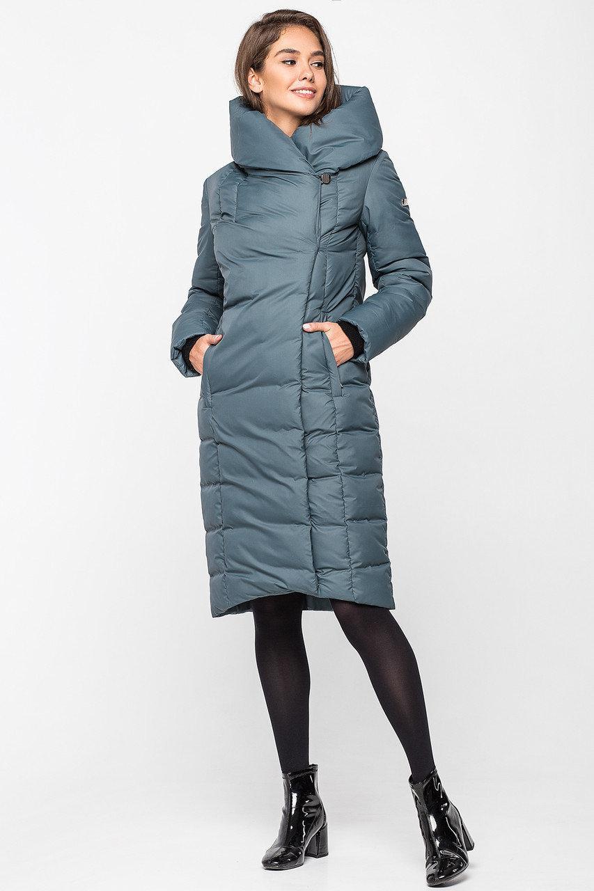 Теплая зимняя женская курточка KTL-223 - изумруд (#819)