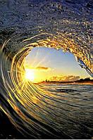 Алмазная живопись Волна на закате моря 40 х 60 см (арт. FS882) вышивка стразами