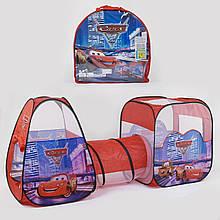 Дитячий ігровий намет з тунелем Машинки 8015 З Блискавка Маквин в сумці (270*92*92 см)