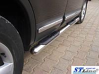 Подножки Honda CRV (бензин) 2015+ (Труба 60мм)(1,6мм толщина) / Подножки Хонда ЦРВ (бензин) 2015+