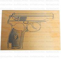 """Дощечка для выжигания """"Пистолет"""" А5, сорт 0"""