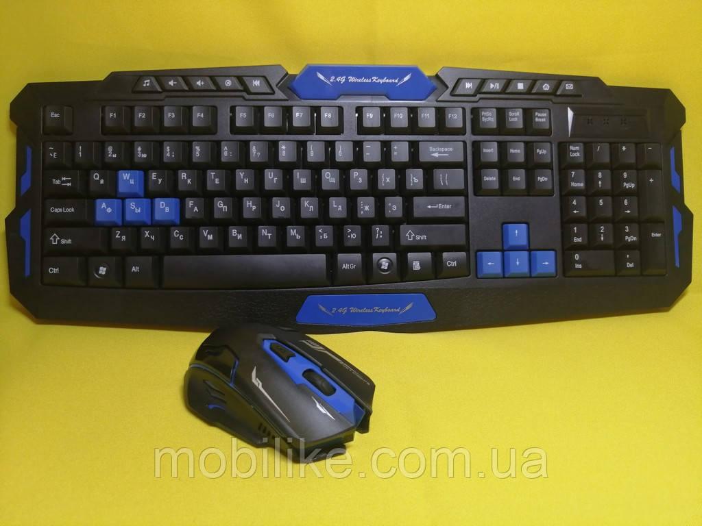 Беспроводной игровой комплект клавиатура + мышь HK8100
