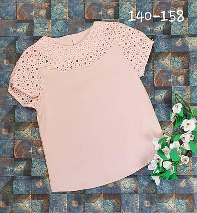 Блузка  с коротким рукавом 140-158 персик, фото 2