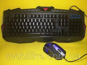 Ігровий комплект миша і клавіатура з LED підсвічуванням V100