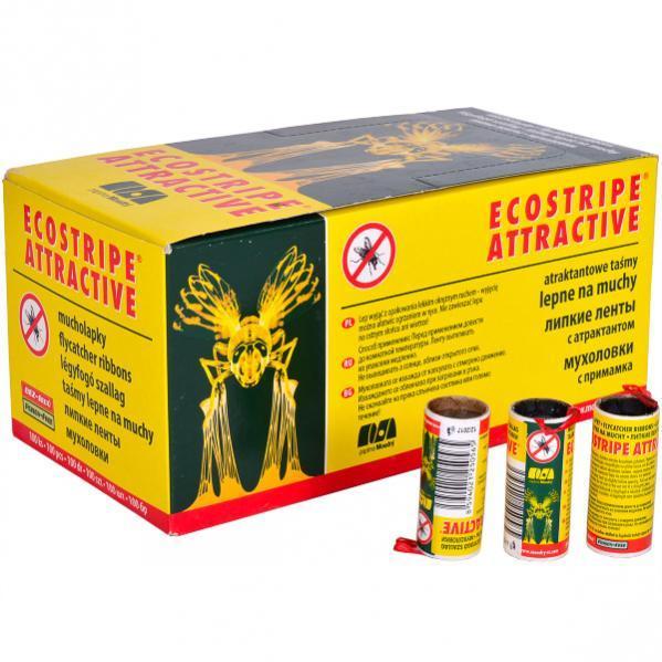 Липкая лента от мух «Ecostripe» , 100 штук