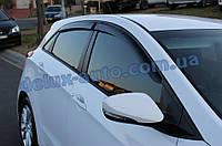 Ветровики Cobra Tuning на авто Hyundai I30 II Hb 5d 2012 Дефлекторы окон Кобра для Хюндай Ай30 2 хэтчбек 5д