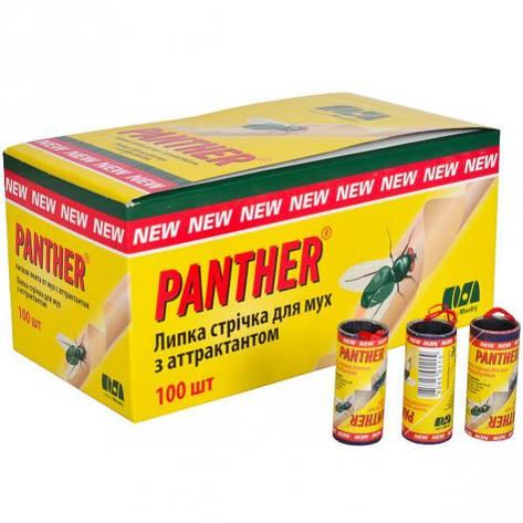 Липка стрічка від мух «Panther» , 100 штук, фото 2