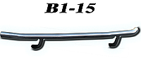 Защита заднего бампера Mitsubishi Outlander 2012-2014 / Защита заднего бампера Митсубиши Оутландер 2012-2014