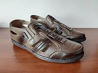 Туфли мужские летние коричневые прошитые (код 737), фото 1