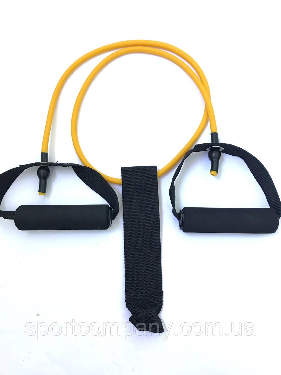 Эспандер 1.2 метр желтый 8 мм + дверной якорь