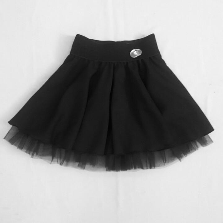 Школьная юбка с фатином для маленькой девочки