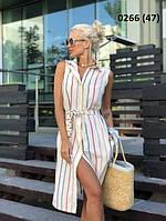 Летнее женское полосатое платье 0266 (47), фото 1