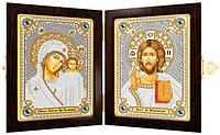 Набор для вышивания бисером Православный складень Богородица Казанская и Христос Спаситель